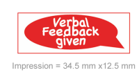 Stamp Stack: Verbal Feedback Given