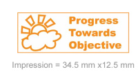 Stamp Stack: Progress Towards Objective- Orange