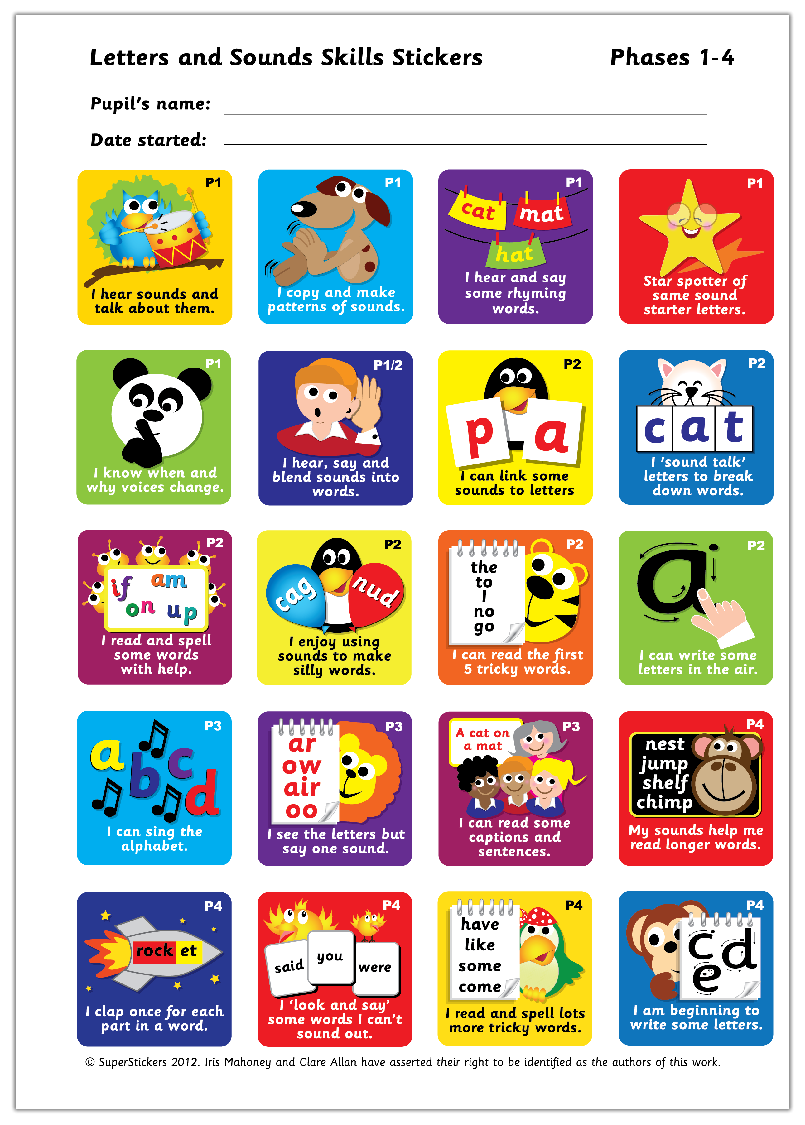 Sticker: Letters and Sounds Skills - Phases 1-4
