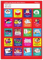 Sticker: Letters and Sounds Skills - Phase 6