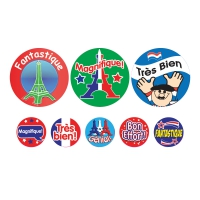 Sticker: French - Bumper Pack 10