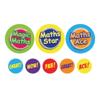 Sticker: Maths - Bumper Pack 10 (25mm)