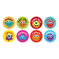 Sticker: Praise Monsters - Bumper Pack 10 (16mm)