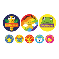 Sticker: Animals, Stars And Gadgets - Bumper Pack (35mm And 10mm)
