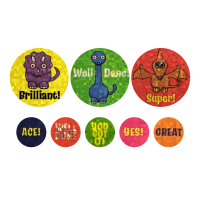 Sticker: Sparkling Dinosaurs - Bumper Pack 10