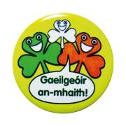 Badge: Gaeilgeoir An-mhaith - 38mm