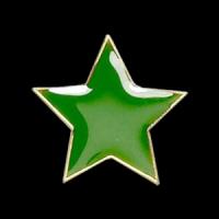 Badge: Green Star - Enamel