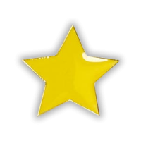 Badge: Yellow Star - Enamel