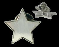 Badge: Silver Star - Enamel