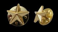 Badge: Gold Star - 12mm Enamel