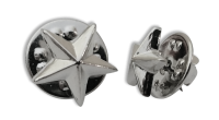 Badge: Silver Star - 12mm Enamel