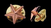 Badge: Bronze Star - 12mm Enamel