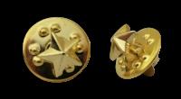 Badge: Gold Star- 8mm Enamel
