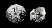 Badge: Silver Star- 8mm Enamel