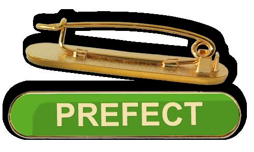Badge: Prefect Bar Green - Enamel