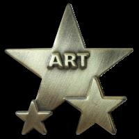 Badge: Art Star - Metal