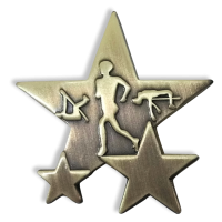 Badge: Athletics Star - Metal