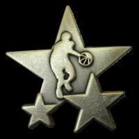 Badge: Basketball Star - Metal