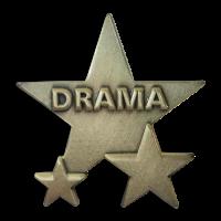 Badge: Drama Triple Star - Metal