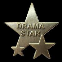 Badge: Drama Star Triple Star - Metal