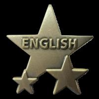Badge: English Star - Metal