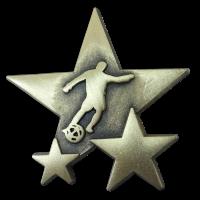 Badge: Football Star - Metal