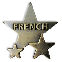 Badge: French Star - Metal