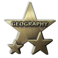 Badge: Geography Star - Metal
