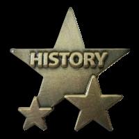 Badge: History Star - Metal