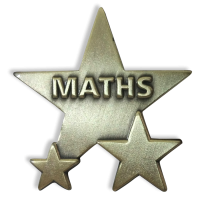 Badge: Maths Star - Metal