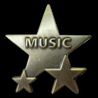 Badge: Music Star - Metal