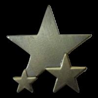 Badge: Plain Star - Metal