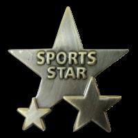 Badge: Sports Star - Metal