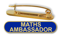 Badge: Maths Ambassador Bar Blue - Enamel