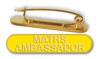 Badge: Maths Ambassador Bar Yellow - Enamel
