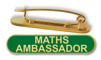 Badge: Maths Ambassador Bar Green - Enamel