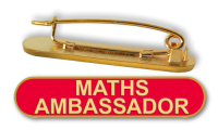 Badge: Maths Ambassador Bar Red - Enamel