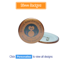 Badge: Personalised - 38mm Bronze