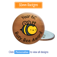 Badge: Personalised - 55mm Bronze