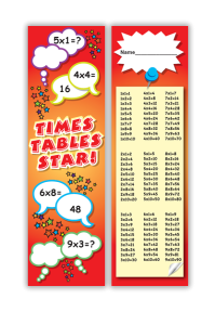 Bookmark: Times Tables Star