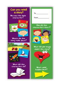 Bookmark: Can You Retell A Story