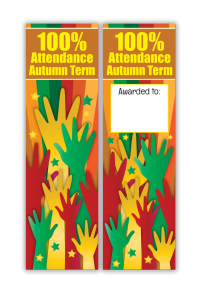 Bookmark: 100% Attendance Autumn Term