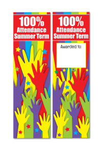Bookmark: 100% Attendance Summer Term