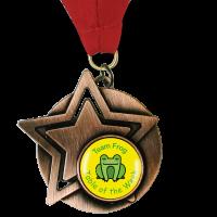 Personalised Medal: Star - Bronze 60mm