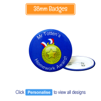 Badge: Personalised - 38mm