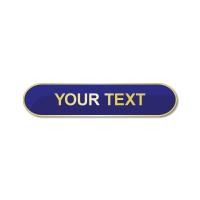 Personalised Enamel Bar Badge: Blue