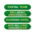 Personalised Enamel Bar Badge: Green