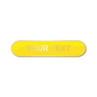 Personalised Enamel Bar Badge: Yellow