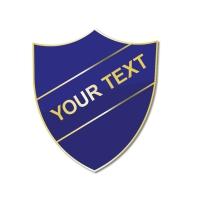 Personalised Enamel Shield Badge: Blue