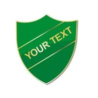 Personalised Enamel Shield Badge: Green
